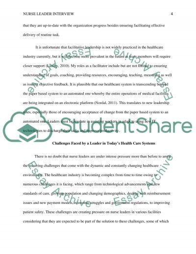 being a leader essay nurse leader interview essay example topics and