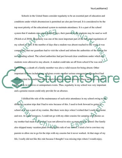 Argument Assignment  School Days, Rules Days Essay - 1