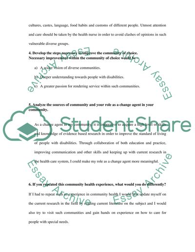 Services-Learning Individual Reflection Paper Assignment