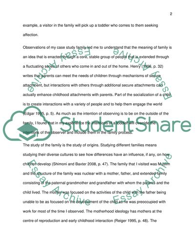 A two year old child in extended family Essay Example Topics and