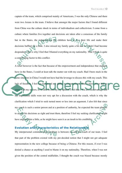 Interpersonal Communication Essay Example Topics and Well Written