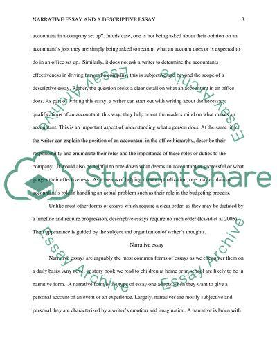 Types of Papers Narrative/Descriptive Essay Example Topics and