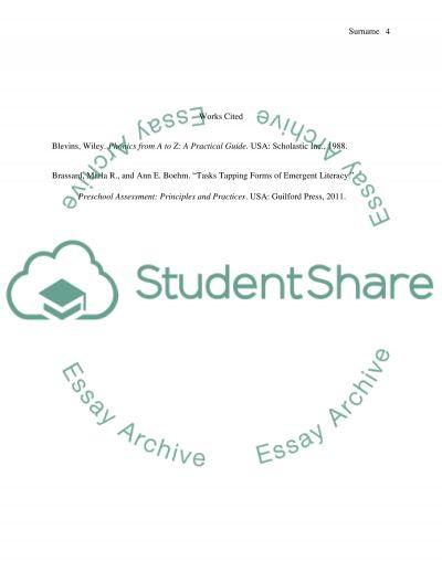 essay on literacy emergent literacy and alphabet knowledge essay