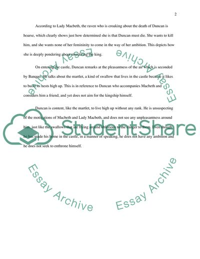 Macbeth Act I Essay Example Topics and Well Written Essays - 500 words
