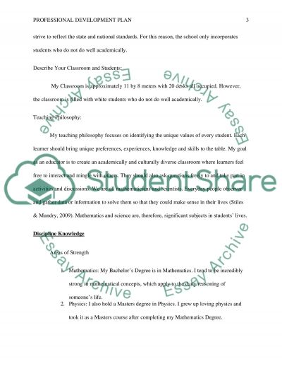 Professional Development Plan Research Paper Example Topics and