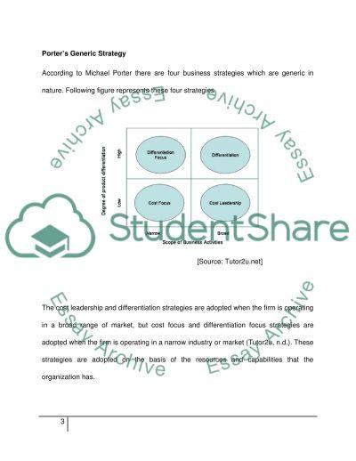 Porters generic strategies for Glaxo Smith Kline Essay - 1