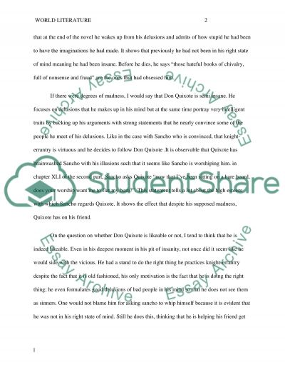 Don Quixote Character Analysis Essay Example Topics and Well - analysis essay example