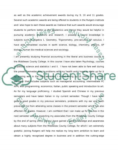 rutgers college essay rutgers essay example university entrance