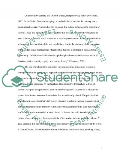 Cultural Diverity Education Essay Example Topics and Well Written