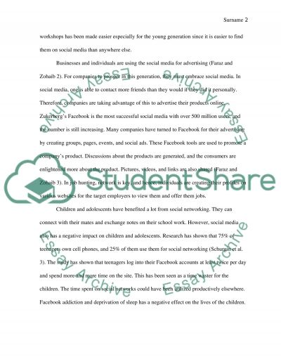 Expository Essay Social Media and its impact Worldwide Essay - expository essays