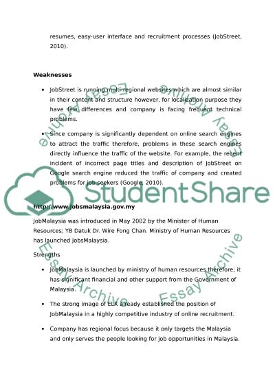 Write 3pages Competitive Analysis/SWOT Analysis of my company Essay - competitor analysis example