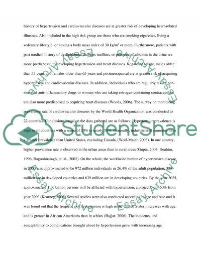 Essays on hypertension College paper Help ryassignmentemnz