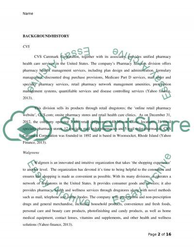 CVS Caremark Corporation And Walgreens Swot Analysis Essay