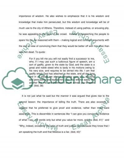 apology essay three important lessons plato s apology essay example