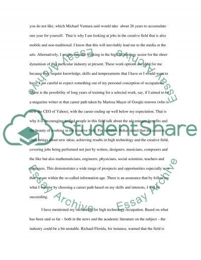 job essay sample my ideal job essay example topics and well written - job self assessment