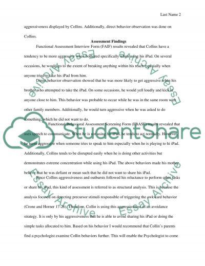 Positive Behavior Intervention Plan Case Study Example Topics and