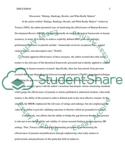 Discussion Essay Example Topics and Well Written Essays - 250