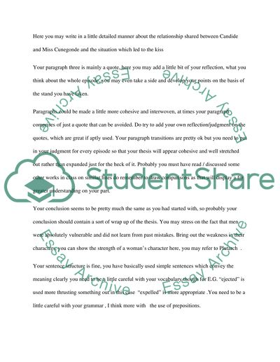 Structure and Transition of Paragraphs and Sentence Construction Essay