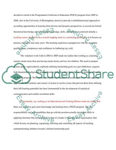 Personal Statement Essay Example Topics and Well Written Essays