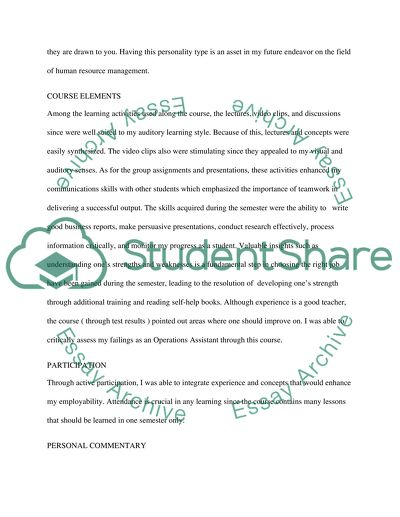 SELF-ASSESSMENT MEMO REPORT Essay Example Topics and Well Written