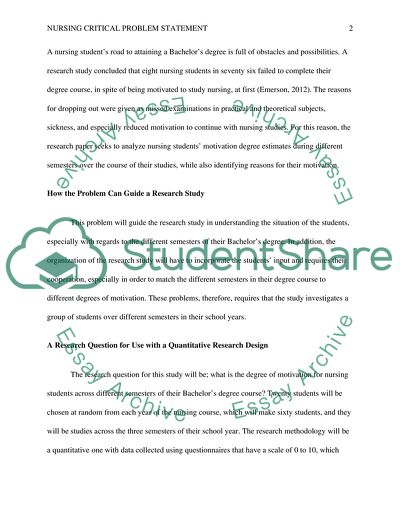 Problem statement Essay Example Topics and Well Written Essays