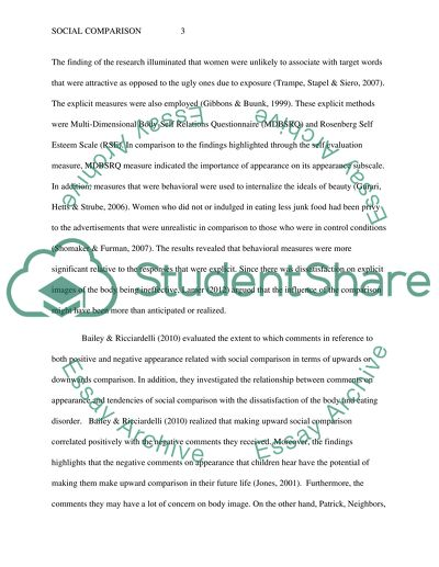 Social Comparison Research Paper Example Topics and Well Written