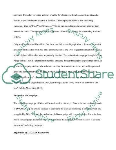 Marketing Campaign of Nike Essay Example Topics and Well Written