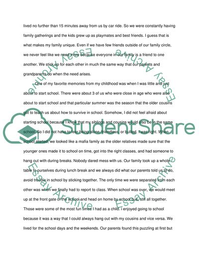 The Difference in Authority Status Within the Family Essay