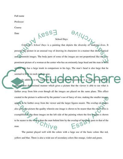 School days, robert colescott Essay Example Topics and Well