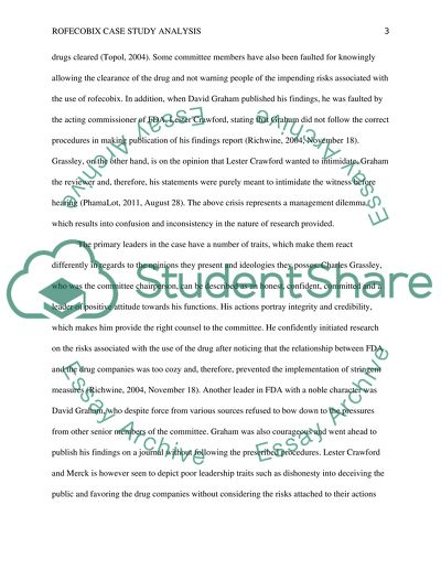 Case Study Analysis Assignment Example Topics and Well Written
