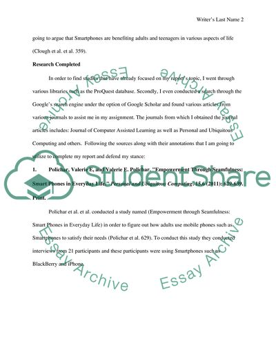 The benefits of Using the Smart Phones Essay Example Topics and