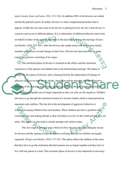 Families and marriages Essay Example Topics and Well Written