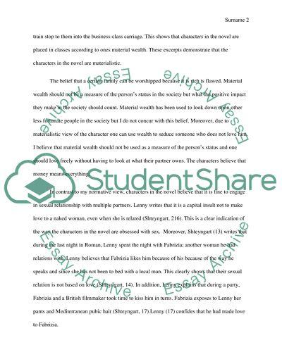 Super Sad True Love Story Essay Example Topics and Well Written
