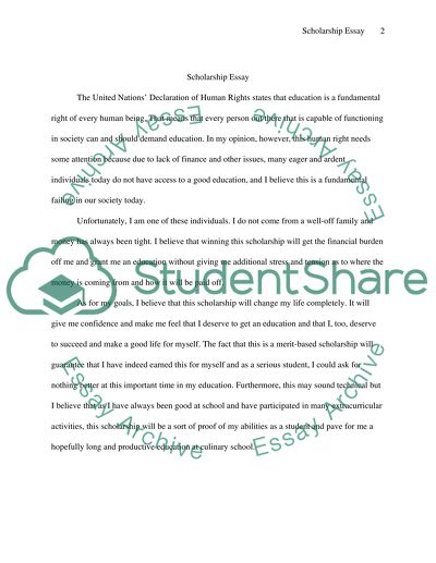 How will winning this scholarship help you attain your goals Essay - 1