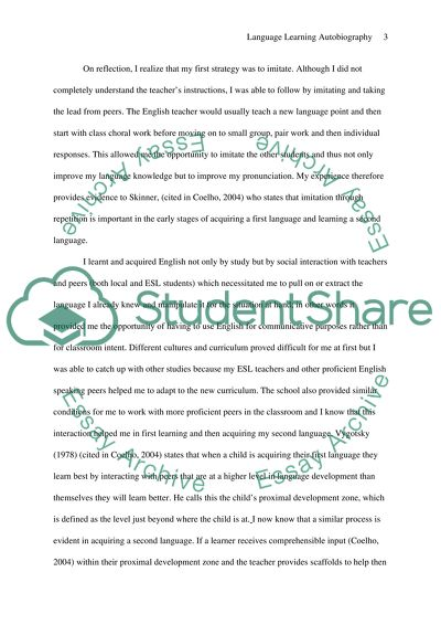 Language Learning Autobiography Essay Example Topics and Well
