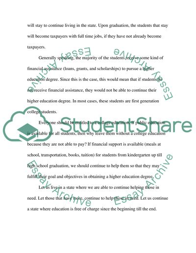 College education Essay Example Topics and Well Written Essays