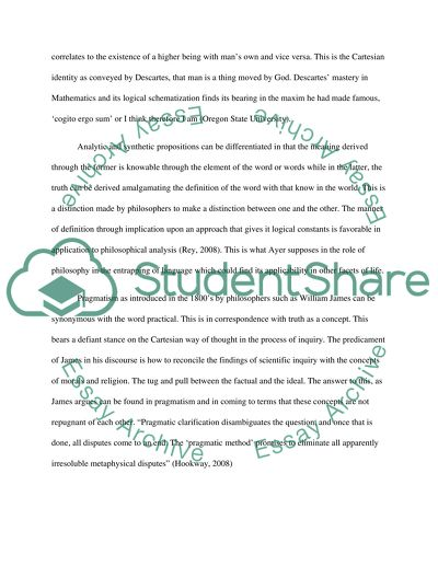 What is the value of philosophy Essay Example Topics and Well