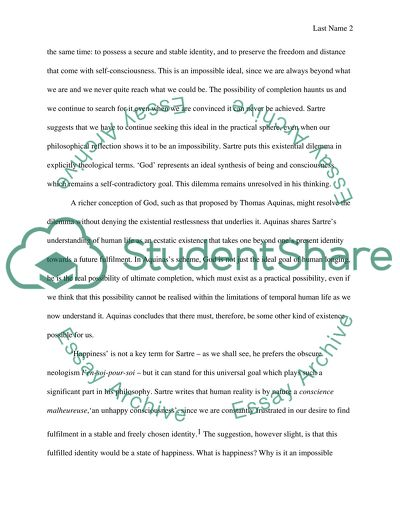 Philosophy, Sartre\u0027s Existentialism Essay Example Topics and Well