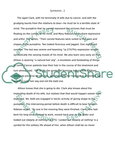 Symbolism by Mary Robison Essay Example Topics and Well Written - symbolism essay examples