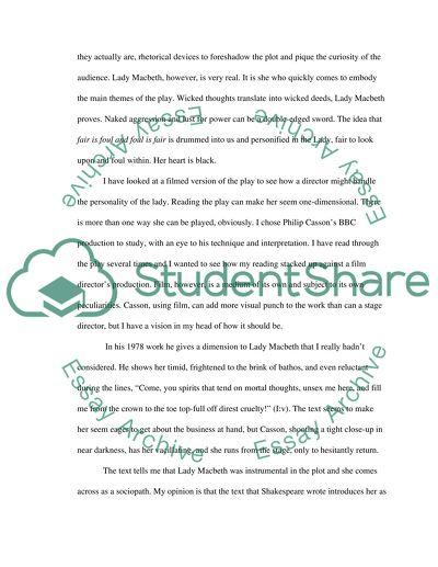 Macbeth High School Essay Example Topics and Well Written Essays