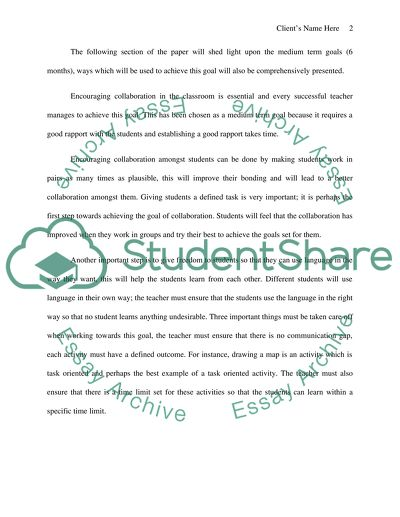 Goals Essay Example Topics and Well Written Essays - 750 words