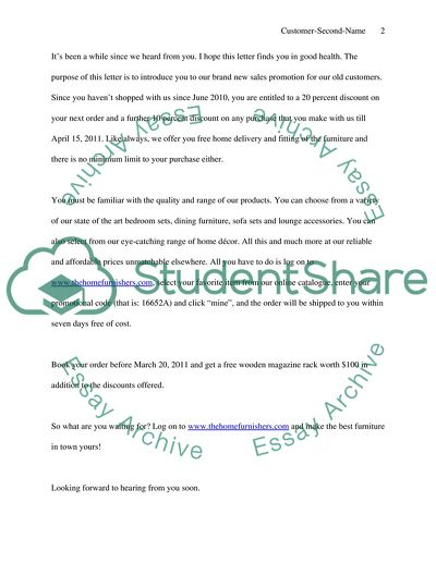 Persuasive Message( it is business letter for class business Assignment