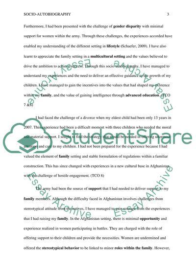 The Development of Socio-Autobiography Essay Example Topics and