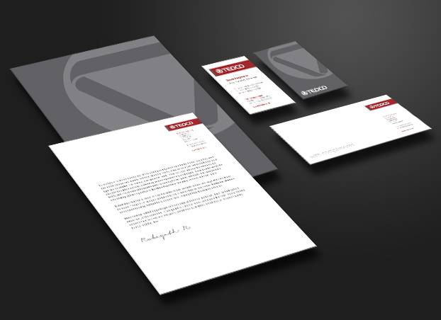 Corporate Stationery Design  Teoco Studio 74 Creative Design