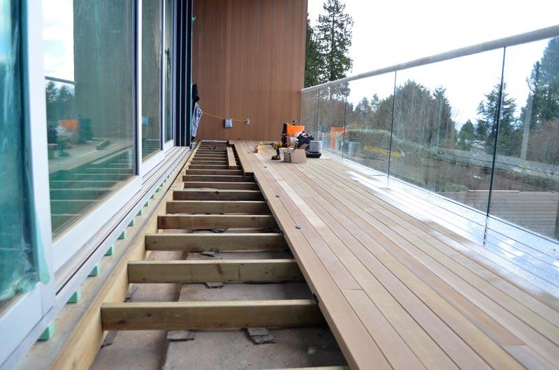 Detail Waterproofing Deck Home Building In Vancouver