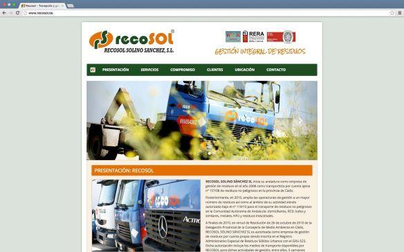 Web - Recosol - GUATMAN Studio