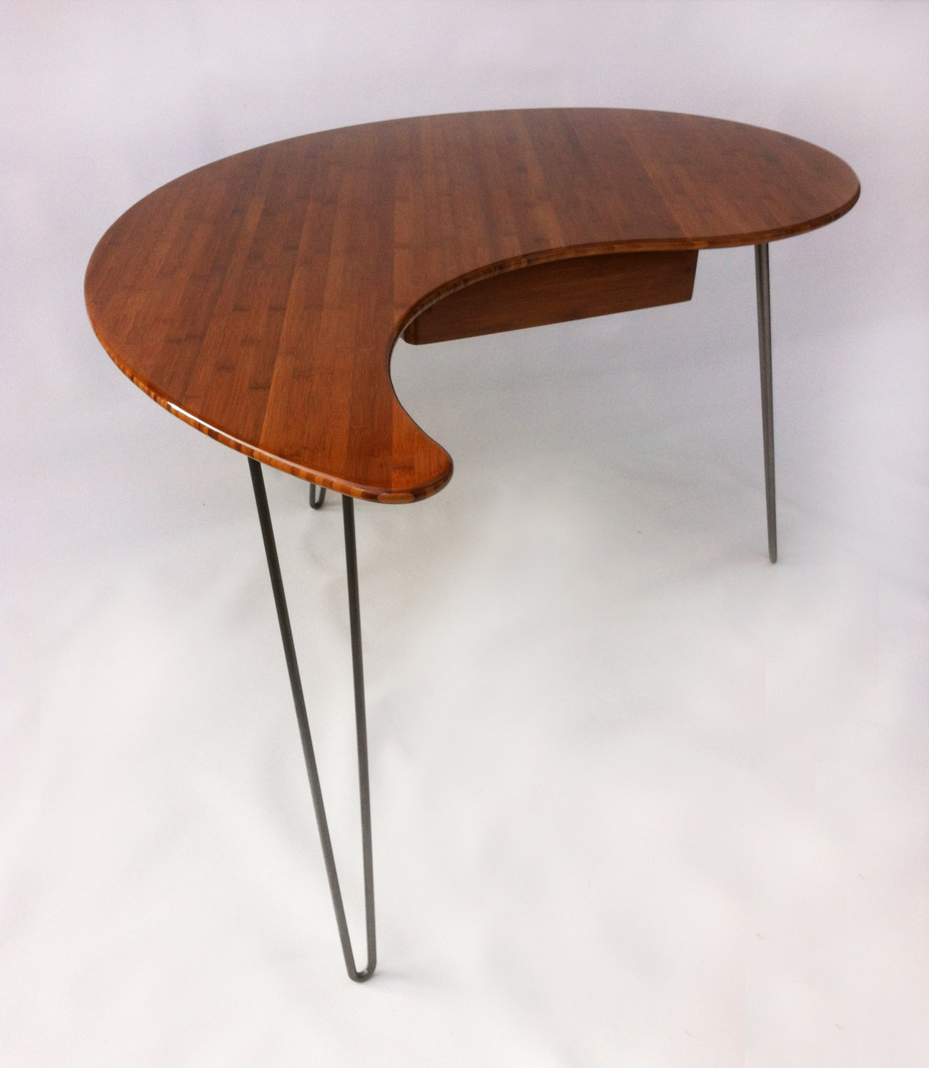 Desks With Drawers Yin Yang Desks With Drawers Mid Century Modern Atomic Era Design In Bamboo Comes As A Pair Of Two