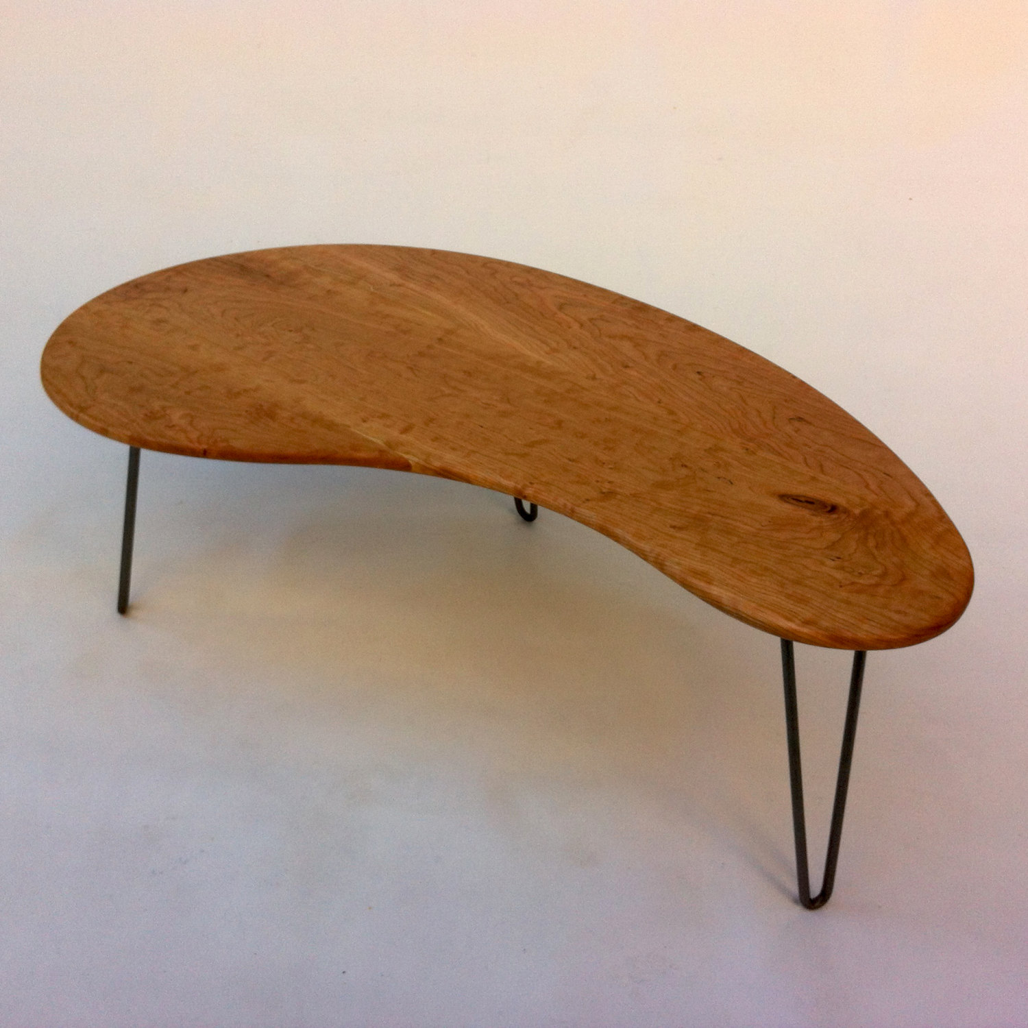 MATTE Finish Cherry Mid Century Modern Coffee or Cocktail Table