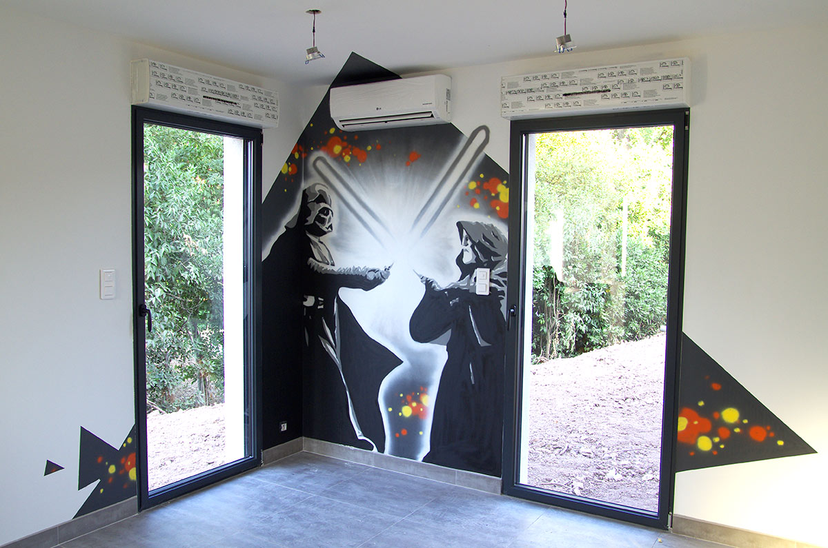 Idee Deco Chambre Star Wars Fresque Murale Décorative Studio 832 Toulon Paca