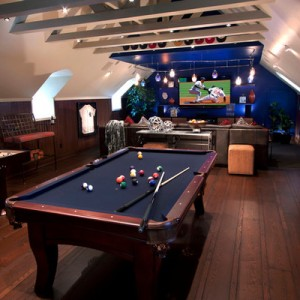 designing man cave contemporary family room